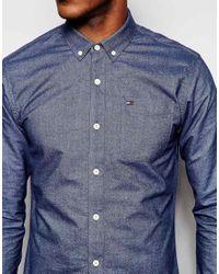 Hilfiger Denim | Blue Brushed Oxford Shirt In Dark Navy for Men | Lyst