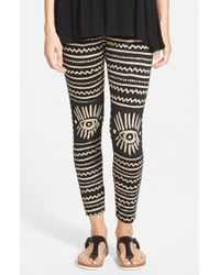 Volcom - Black 'tongue Tied' Leggings - Lyst