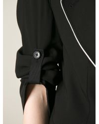 Ann Demeulemeester | Black Contrast Trim Blazer | Lyst