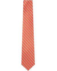 Ferragamo | Red Frog-print Silk Tie for Men | Lyst
