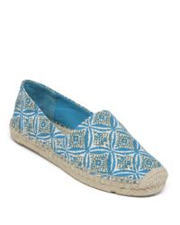 Lucky Brand | Blue Tashii Printed Espadrille Flats | Lyst