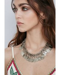 Forever 21 | Metallic Raga Etched Coin Necklace | Lyst