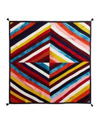 Tory Burch - Multicolor Diamond Silk Square Scarf - Lyst