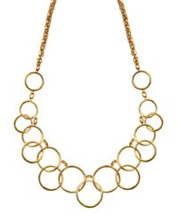 Nine West | Metallic Multi Circle Gold Necklace | Lyst