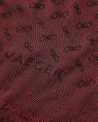 Jaeger - Purple Knot Logo Jacquard Scarf - Lyst