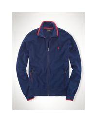 Ralph Lauren - Blue Interlock Full-zip Sweater for Men - Lyst
