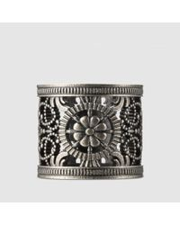 Gucci | Metallic Ring With Open Work Design | Lyst