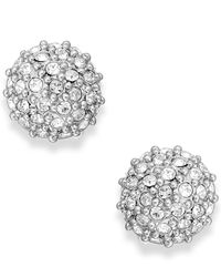 kate spade new york - Metallic Crystal Pavé Ball Stud Earrings - Lyst