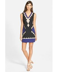 Plenty by Tracy Reese - Black Tricolor Shift Dress - Lyst