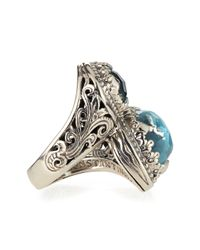 Konstantino | Blue Turquoise & Rock Crystal Doublet Bypass Ring | Lyst