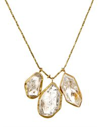 Pippa Small - Metallic Herkimer Diamond-Quartz & Gold Necklace - Lyst