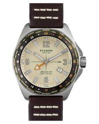 Filson | Brown 'the Journeyman' Gmt Strap Watch for Men | Lyst