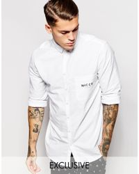 Nicce London - White Shirt With Pocket Detail for Men - Lyst