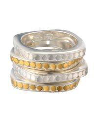 Anna Beck | Metallic Set Of 4 Multi-disk Stackable Rings | Lyst