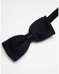 Jack & Jones - Black Knit Bowtie for Men - Lyst