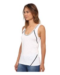 Sam Edelman - White Trim Insert Tank Top - Lyst