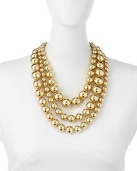 St. John - Metallic Pearly & Metal Bead Multi-strand Necklace - Lyst
