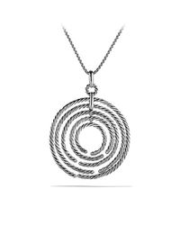 David Yurman - Metallic Willow Pendant Necklace With Diamonds - Lyst