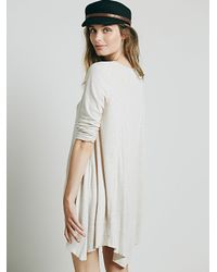 Free People - Gray We The Free Marigold Tunic - Lyst