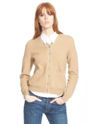 Marc By Marc Jacobs - Natural 'superfelt' V-neck Merino Wool Cardigan - Lyst