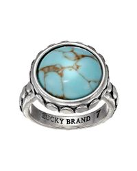 Lucky Brand - Blue Silver And Turquoise Ring - Lyst