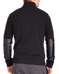 Ralph Lauren | Black Polo French Terry Mockneck Pullover for Men | Lyst