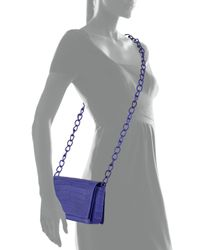 Nancy Gonzalez - Blue Medium Crocodile Cross-Body Bag - Lyst