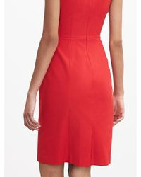 Banana Republic | Red Sloan-fit Cutout Sheath | Lyst
