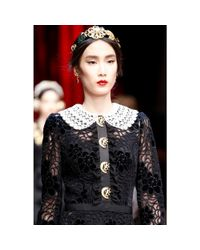 Dolce & Gabbana - Metallic Embellished Hair Clip - Lyst
