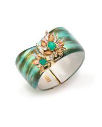 Alexis Bittar | Blue Desert Jasmine Lucite, Chalcedony & Crystal Asymmetrical Cuff Bracelet | Lyst