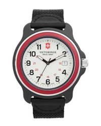 Victorinox | Black 'original' Extra Large Nylon Strap Watch for Men | Lyst