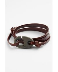 Miansai | Brown Brummel Hook Leather Bracelet - Brandy for Men | Lyst