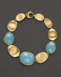 Marco Bicego | Metallic 18k Yellow Gold Lunaria Bracelet With Aquamarine | Lyst