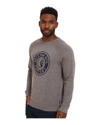 Brixton - Gray Rival Crew Fleece for Men - Lyst