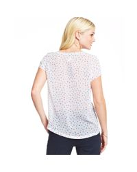 Maison Jules - Blue Striped Polkadot Top - Lyst