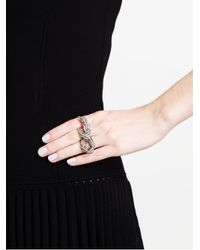 Loree Rodkin | Metallic 18k Oxidised Gold and Grey Diamond Vine Ring | Lyst