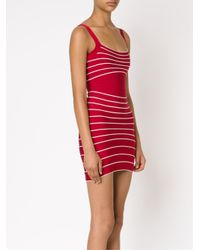 Hervé Léger - Red Bandage Fitted Dress - Lyst