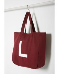 Forever 21 | Purple Initial Graphic Oversized Tote You've Been Added To The Waitlist | Lyst