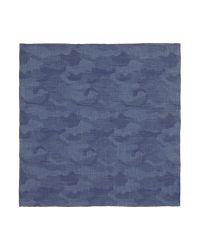 Tm Lewin - Blue Camouflage Pocket Square for Men - Lyst