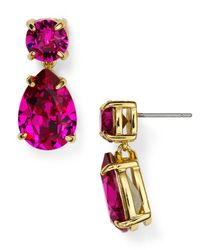 kate spade new york | Pink Fancy That Drop Earrings | Lyst
