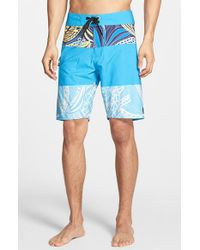 Volcom | Blue 'macaw Mod' Board Shorts for Men | Lyst