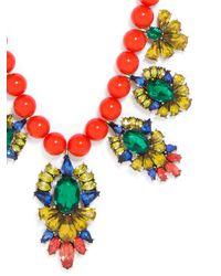 "BaubleBar - Red Athena Bib Necklace, 15"" - Lyst"
