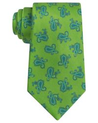 Ike Behar | Green Satin Pine Tie for Men | Lyst