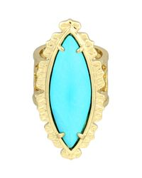 Kendra Scott | Metallic Maritza Turquoise Marquise Ring 7 | Lyst
