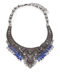 DANNIJO | Metallic Elias Crystal Collar Necklace | Lyst