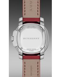 Burberry Brit - Red The Britain Bby1705 34mm - Lyst