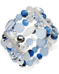 Style & Co. - Silver-tone Ice Blue Four-row Bracelet - Lyst