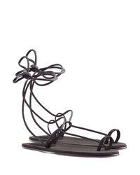 Chloé - Gray Fawne Suede Sandals - Lyst