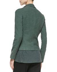 Vince - Green Textured Knit Asymmetric Jacket - Lyst