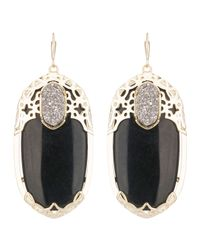 Kendra Scott | Deva Twilight Black Glass Earrings | Lyst